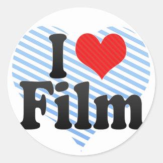 Amo la película etiquetas redondas