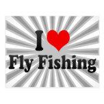 Amo la pesca con mosca postales