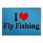 Amo la pesca con mosca tarjetón