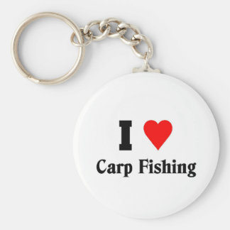Amo la pesca de la carpa llavero redondo tipo pin