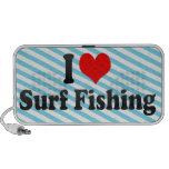 Amo la pesca de resaca portátil altavoces