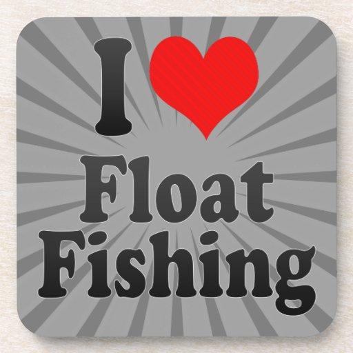Amo la pesca del flotador posavasos de bebidas