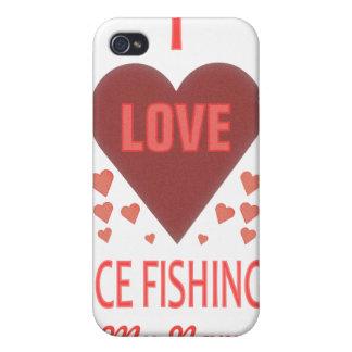 Amo la pesca del hielo iPhone 4 carcasa