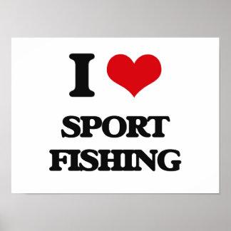 Amo la pesca deportiva impresiones