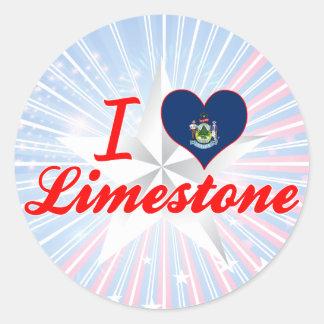 Amo la piedra caliza, Maine Etiqueta
