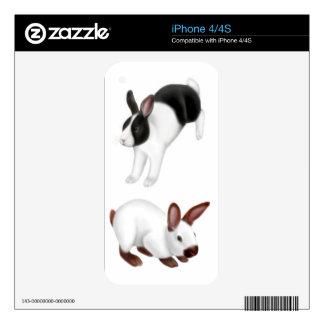 Amo la piel de Zazzle de los conejos iPhone 4S Skin