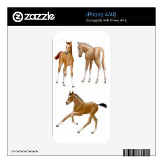 Amo la piel de Zazzle de los potros Calcomanía Para iPhone 4S