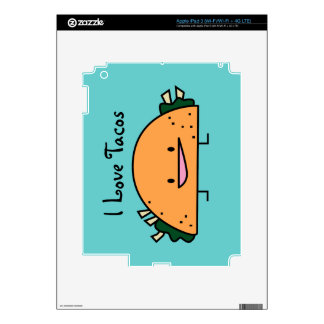 Amo la piel del iPad 1 del Tacos Pegatina Skin Para iPad 3