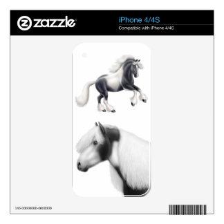 Amo la piel gitana de Zazzle de los caballos de Skin Para El iPhone 4S