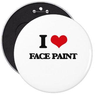 Amo la pintura de la cara chapa redonda 15 cm