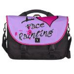 Amo la pintura de la cara bolsas para ordenador