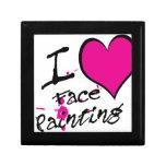 Amo la pintura de la cara cajas de regalo