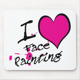 Amo la pintura de la cara tapetes de ratón