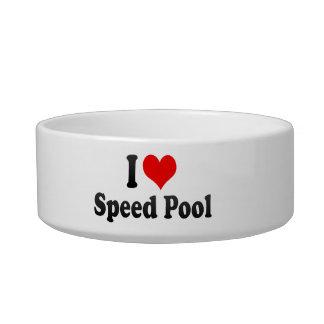 Amo la piscina de la velocidad tazón para agua para gatos
