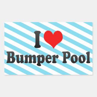 Amo la piscina de parachoques rectangular altavoces