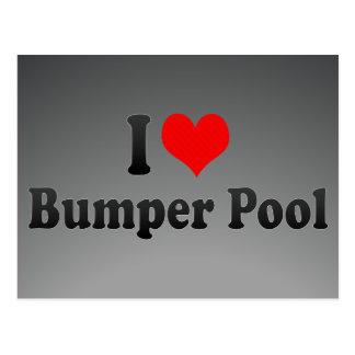 Amo la piscina de parachoques postal