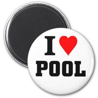 Amo la piscina imán de nevera