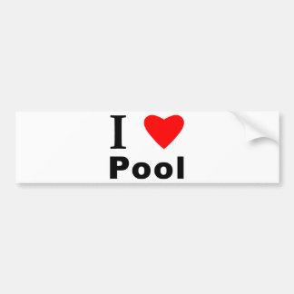 Amo la piscina pegatina para auto