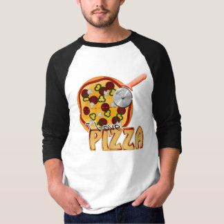 Amo la pizza - 3/4 raglán básico de la manga remeras