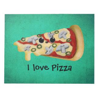 Amo la pizza bloc de papel