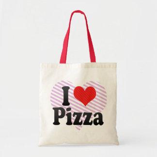 Amo la pizza bolsa tela barata