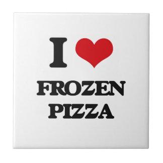 Amo la pizza congelada azulejo cuadrado pequeño