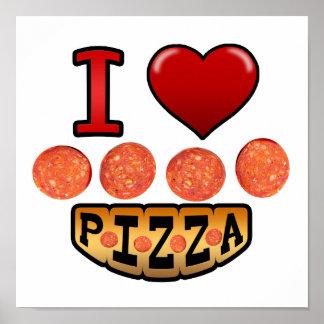 Amo la pizza de salchichones impresiones
