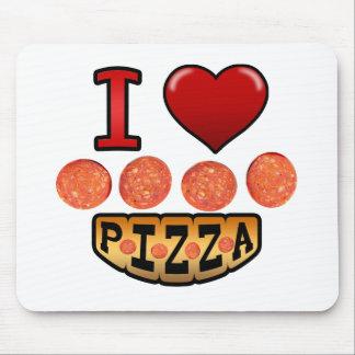 Amo la pizza de salchichones alfombrillas de ratones