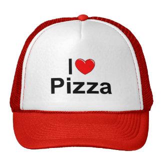 Amo la pizza del corazón gorro