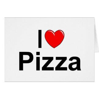 Amo la pizza del corazón felicitaciones