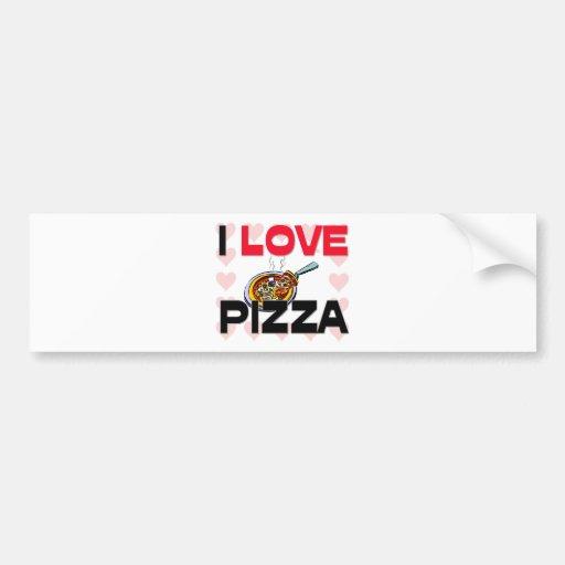 Amo la pizza etiqueta de parachoque