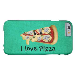 Amo la pizza funda para iPhone 6 barely there
