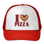 Amo la pizza gorros bordados