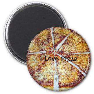Amo la pizza imán para frigorífico