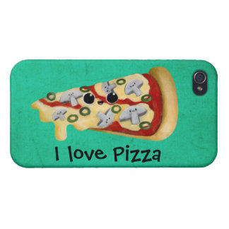 Amo la pizza iPhone 4/4S carcasa