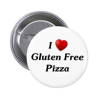 Amo la pizza libre del gluten pin redondo 5 cm