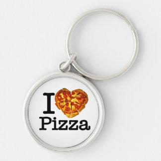 Amo la pizza llaveros
