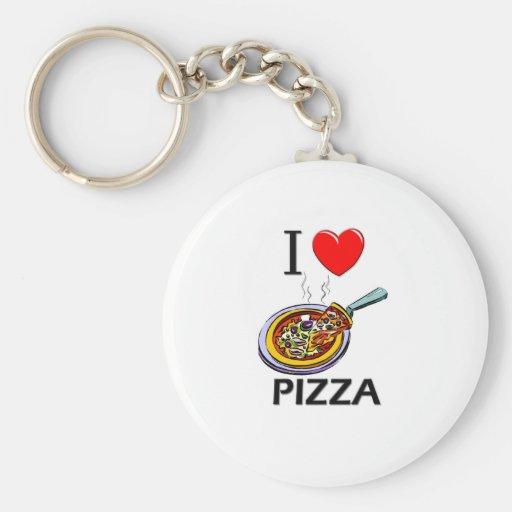Amo la pizza llaveros personalizados