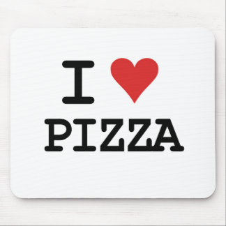 Amo la pizza mousepads