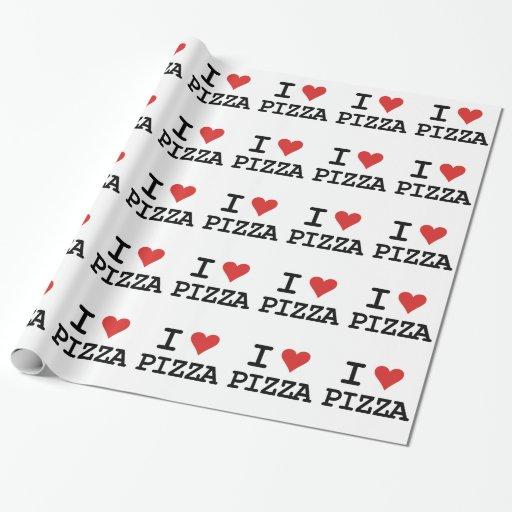 Amo la pizza papel de regalo