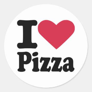 Amo la pizza pegatinas redondas