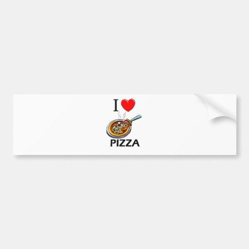 Amo la pizza pegatina para auto