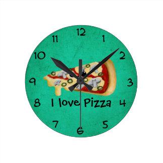 Amo la pizza reloj