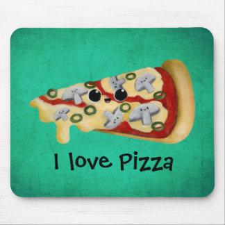 Amo la pizza alfombrilla de raton