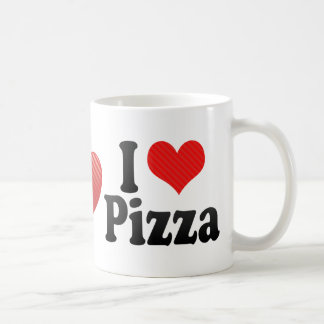 Amo la pizza tazas de café