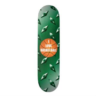 Amo la placa de acero del diamante verde del patineta personalizada