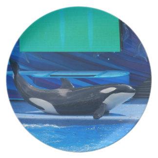 Amo la placa de las orcas platos de comidas