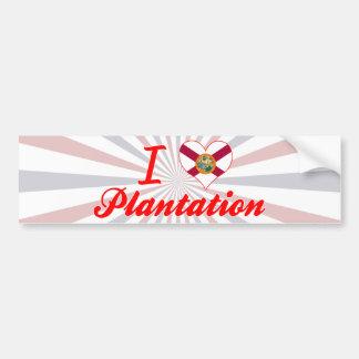 Amo la plantación, la Florida Pegatina De Parachoque