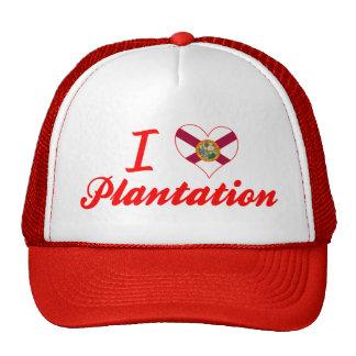 Amo la plantación, la Florida Gorro