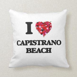 Amo la playa California de Capistrano Cojín